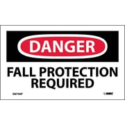 Labels - Danger, Fall Protection Required, 3X5, Adhesive Vinyl, 5/Pk