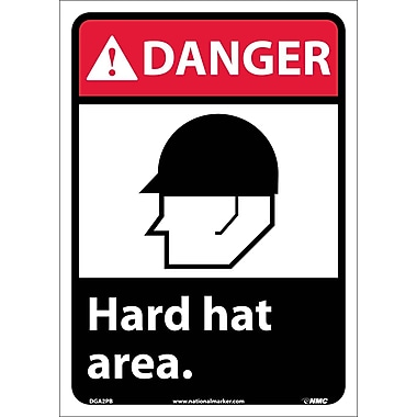 Danger, Hard Hat Area with Graphic, 14