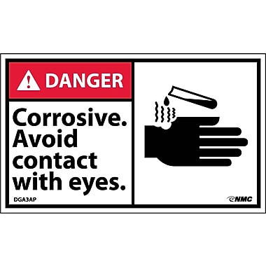 Labels Danger, Corrosive Avoid Contact with Eyes Graphic, 3