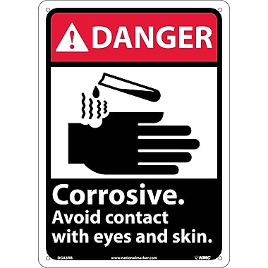 Danger, Corrosive Avoid Contact with Eyes And Skin with Graphic, 14