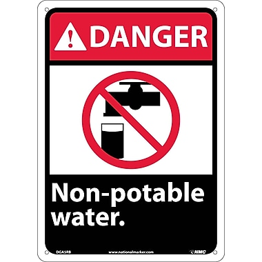 Danger, Non-Potable Water with Graphic, 14