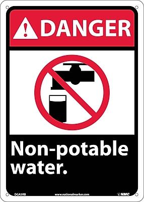 Danger, Non-Potable Water (W/Graphic), 14X10, Rigid Plastic