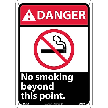 Danger, No Smoking Beyond This Point with Graphic, 14