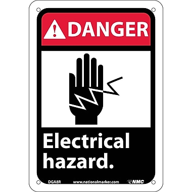 Danger, Electrical Hazard (W/Graphic), 10X7, Rigid Plastic