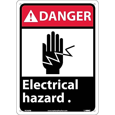 Danger, Electrical Hazard with Graphic, 14
