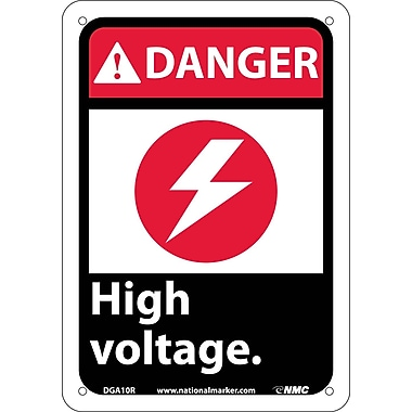 Danger, High Voltage (W/Graphic), 10X7, Rigid Plastic