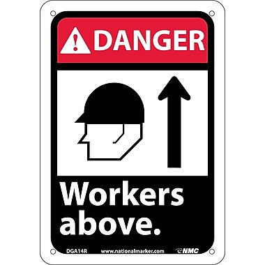 Danger, Workers Above with Graphic, 10
