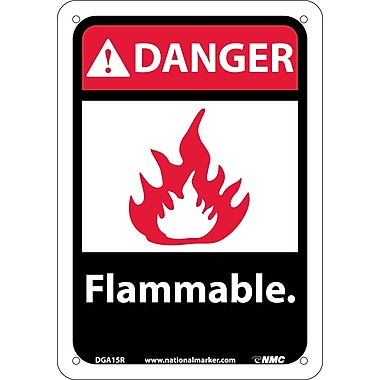 Danger, Flammable with Graphic, 10