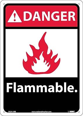 Danger, Flammable (W/Graphic), 14X10, Rigid Plastic