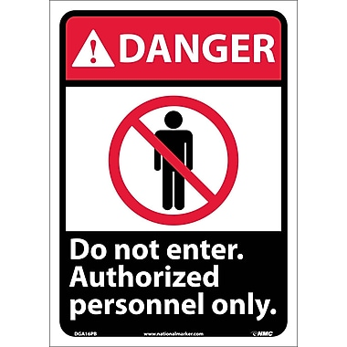 Danger, Do Not Enter Authorized Personnel Only with Graphic, 14