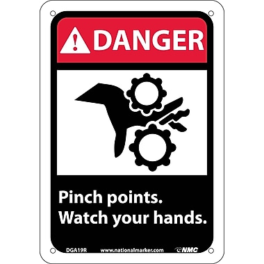 Danger, Pinch Points Watch Your Hands with Graphic, 10