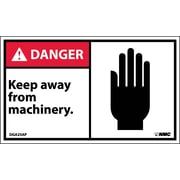 Labels - Danger, Keep Away From Machinery (Graphic), 3X5, Adhesive Vinyl, 5/Pk