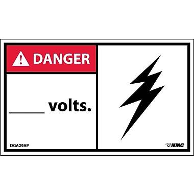 Labels Danger, ____ Volts, 3