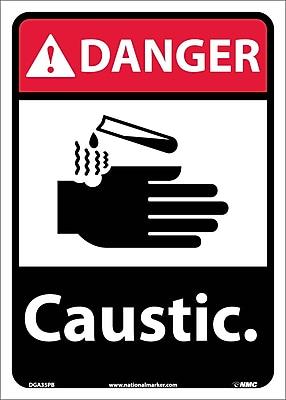 Danger, Caustic, 14X10, Adhesive Vinyl
