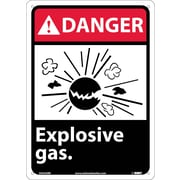 Danger, Explosive Gas, 14X10, Rigid Plastic