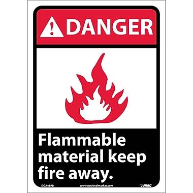 Danger, Flammable Material Keep Fire Away, 14