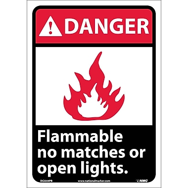 Danger, Flammable No Matches Or Open Lights, 14