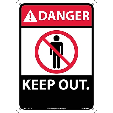Danger, Keep Out, 14X10, .040 Aluminum