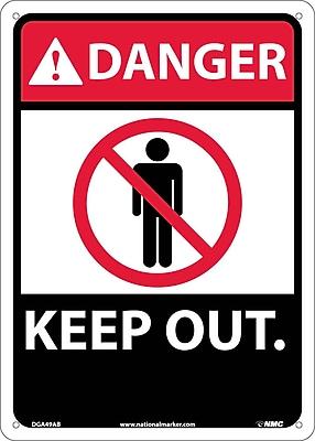 Danger, Keep Out, 14X10, .040 Aluminum
