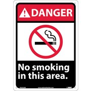 Danger, No Smoking In This Area, 14X10, .040 Aluminum