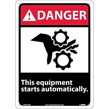 Danger, This Equipment Starts Automatically, 14