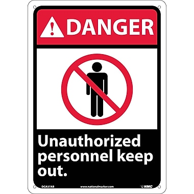 Danger, Unauthorized Personnel Keep Out, 14X10, .040 Aluminum