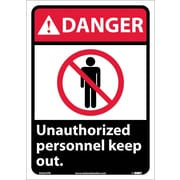 Danger, Unauthorized Personnel Keep Out, 14X10, Adhesive Vinyl
