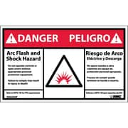 Labels - Danger, Arc Flash Hazard, Bilingual, (Graphic), 3X5, Adhesive Vinyl, 5/Pk