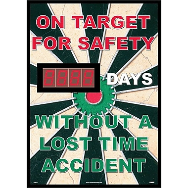 On Target For Safety Without A Lost Time Accident, 20 X 28, .085 Styrene