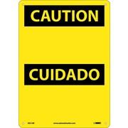Caution Cuidado, Blank, 14X10, .040 Aluminum