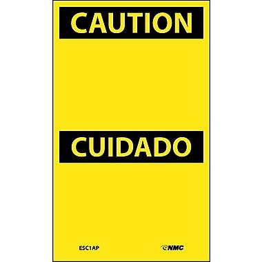 Labels - Caution Cuidado, Blank, 5X3, Adhesive Vinyl, 5/Pk