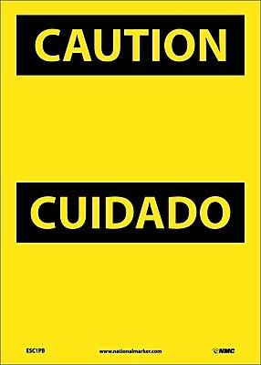 Caution, (Header Only) (Bilingual), 14X10, Adhesive Vinyl