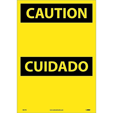 Caution, (Header Only) (Bilingual), 20X14, Adhesive Vinyl