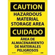 Caution, Hazardous Material Storage Area Bilingual, 14X10, Adhesive Vinyl