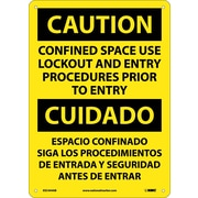 Caution, Confined Space Use Lockout And Entry Procedures Prior To Entry Bilingual