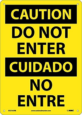 Danger, Do Not Enter, Bilingual, 14X10, Rigid Plastic