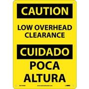 Caution, Low Overhead Clearance, Bilingual, 14X10, .040 Aluminum