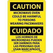 Caution, Microwave Oven Could Be Harmful To Persons Wearing Pacemakres, Bilingual, 14X10
