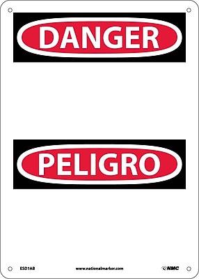 Danger, Peligro, (Blank), 14X10, .040 Aluminum