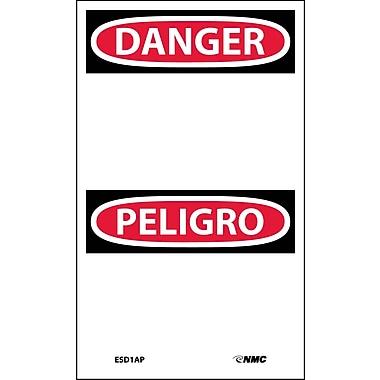 Labels - Danger Peligro, Blank, 5X3, Adhesive Vinyl,5/Pk