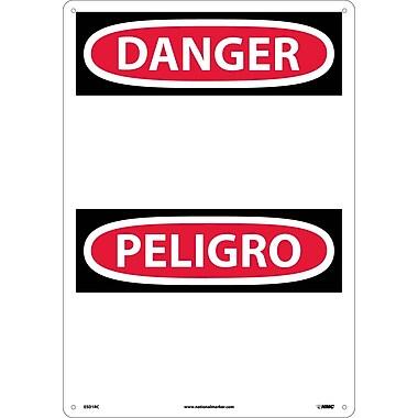 Danger, Peligro (Header Only) (Bilingual), 20X14, Rigid Plastic
