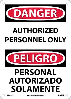 Danger, Authorized Personnel Only Bilingual, 14X10, .040 Aluminum