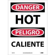 Danger, Hot (Bilingual), 14X10, Adhesive Vinyl
