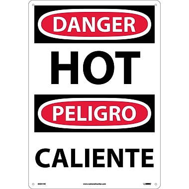 Danger, Hot (Bilingual), 20X14, Rigid Plastic