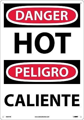 Danger, Hot (Bilingual), 20X14, Rigid Plastic