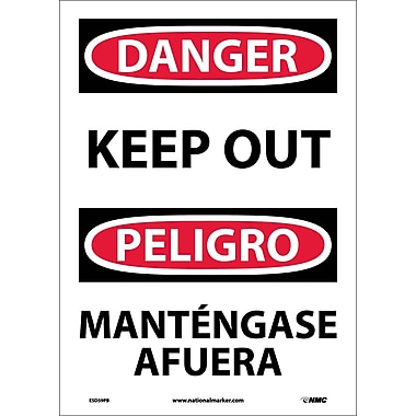 Danger, Keep Out (Bilingual), 14X10, Adhesive Vinyl