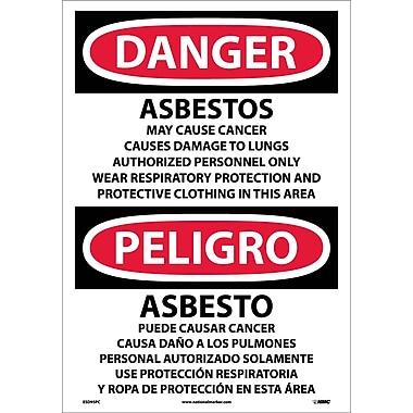 Danger, Asbestos Cancer And Lung Disease. . . (Bilingual), 20X14, Adhesive Vinyl
