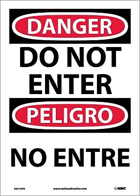 Danger, Do Not Enter Bilingual, 14X10, Adhesive Vinyl