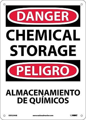 Danger, Chemical Storage Bilingual, 14X10, .040 Aluminum