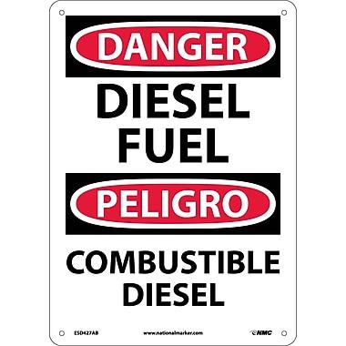 Danger, Diesel Fuel Bilingual, 14X10, .040 Aluminum